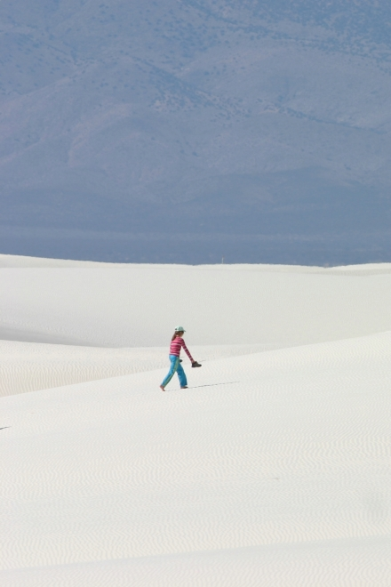 White Sands V  - These two images illustrate how the same image might be better  if rotated 90 degrees to better suit the subject. The horizontal image gives a better sense of scale and better balance. (Canon Digital Rebel w/400mm f/5.6L, 1/640th sec @ f/8, ISO 100)